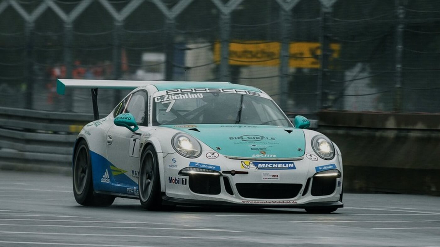 Christopher Zoechling im Porsche Carrera Cup 2014 in Oschersleben