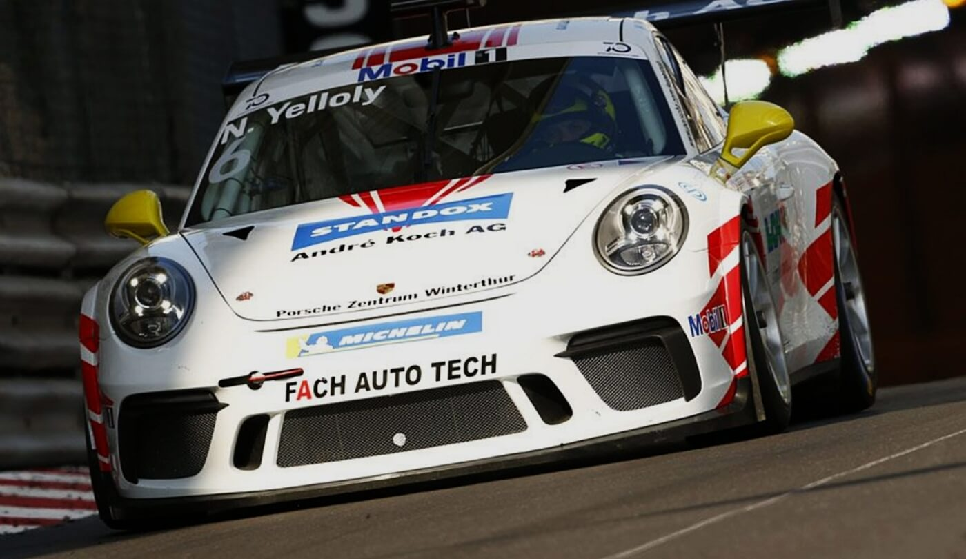 Nick Yelloly im Porsche Mobil 1 Supercup