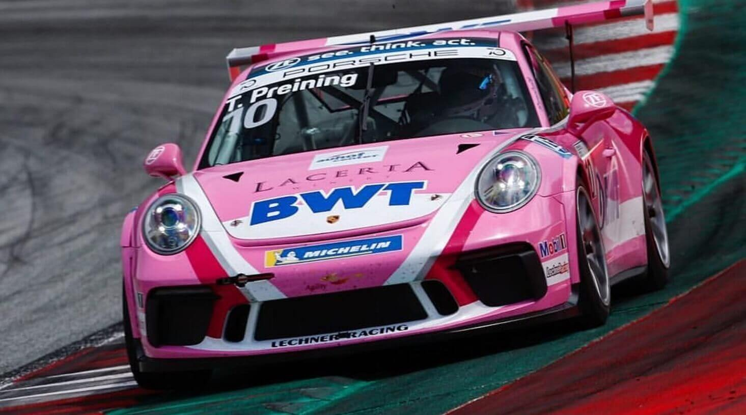 Thomas Preining im Porsche Carrera Cup 2018 am Red Bull Ring
